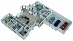 This 3D Digital Model Floor Plan helps give a detailed example of the final product