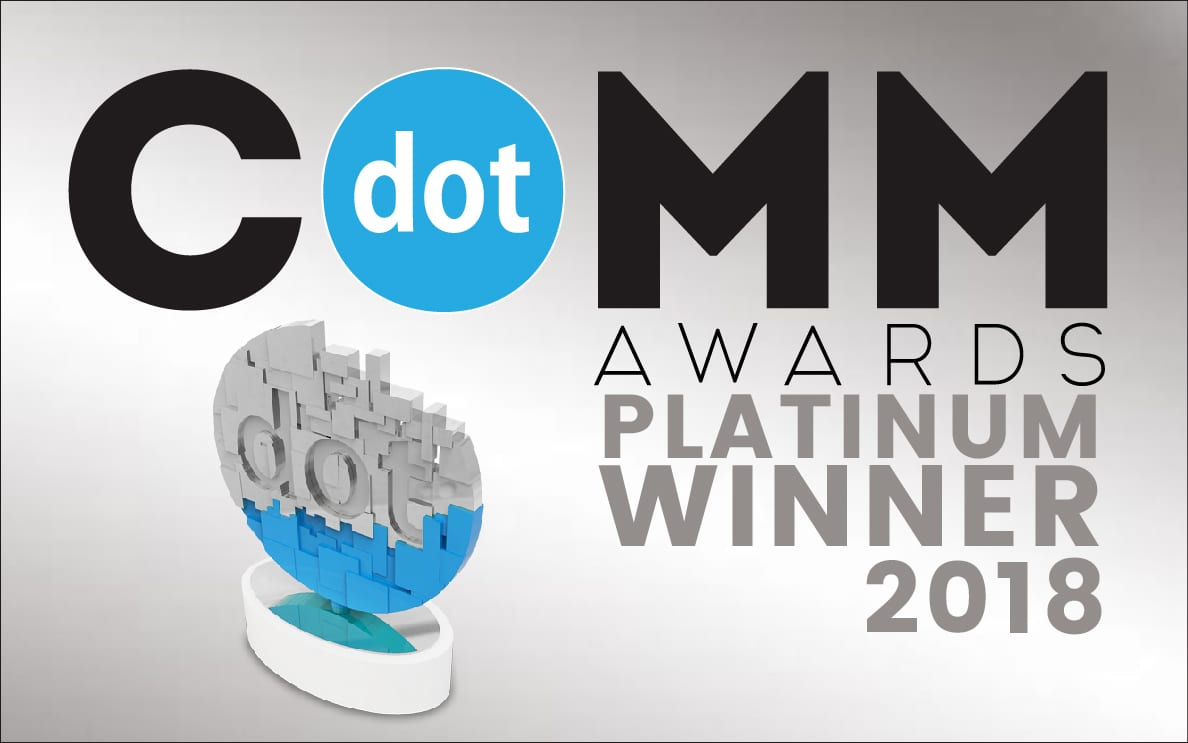 dotCOMM Award 2018 winner statue